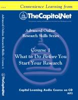What to Do *Before* You Start Your Research, Capitol Learning Audio Course