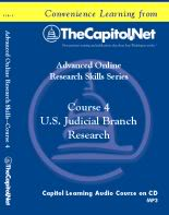 U.S. Judicial Branch Research, Capitol Learning Audio Course