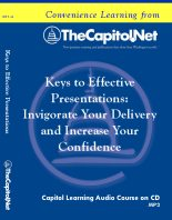 Keys to Effective Presentations, Capitol Learning Audio Course