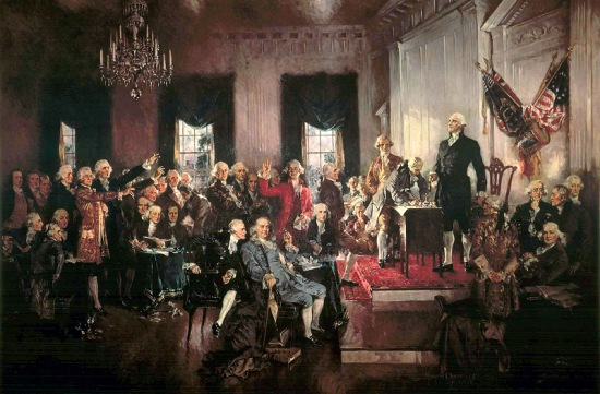 Scene at the Signing of the Constitution of the United States, Painting by Howard Chandler Christy